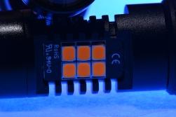 アルミ基板のアップ。 チップが乗ってる基板自体がアルミなので、放熱性・耐久性・堅牢性が段違いです。